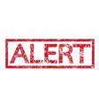 stamp text alert vector image vector image