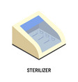 sterilizer device or container isolated electric vector image vector image