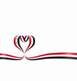 syrian flag heart-shaped ribbon vector image vector image
