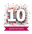 Ten paper confetti sign vector image