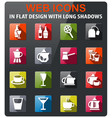 utensils for beverages icon set vector image vector image