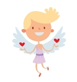 Valentine Day cupid angels cartoon style vector image
