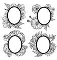 vintage oval frames vector image vector image