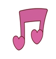 pink love note musical valentine vector image