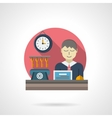 Reception detail flat color icon vector image