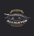 crocodile logo - alligator vector image