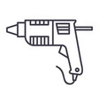 caulk gunglue gun line icon sign vector image