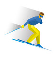 sportsman with disabilities ski slope down vector image