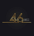 46 years anniversary vector image vector image