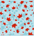 autumn red leaves vector image