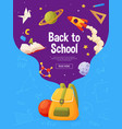 Back to school banner template for sale page