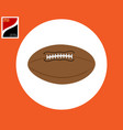 ball for playing rugby vector image vector image