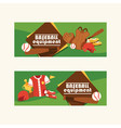 baseball pattern catchers sportswear and vector image vector image