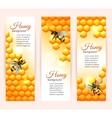 Bee banners vertical vector image vector image