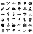big tree icons set simple style vector image