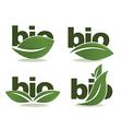 bio symbols vector image vector image