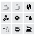black coffee icons set vector image vector image