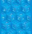 blue cubes isometric seamless pattern vector image vector image
