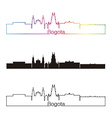 Bogota skyline linear style with rainbow vector image vector image