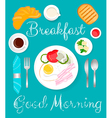 Breakfast green vector image vector image