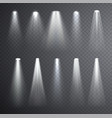 bright white light beam glowing light effects vector image vector image