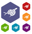 bull snake icons hexahedron vector image vector image