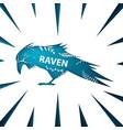 Cartoon paper landscape raven crow
