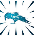 cartoon paper landscape raven crow vector image vector image
