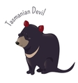 Cartoon Tasmanian devil isolated on white vector image vector image