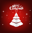Christmas postcard with origami Christmas tree vector image vector image