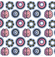 color gear and brain teamwork progress background vector image