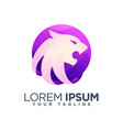 colorful lion head shield abstract logo design vector image