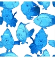 Colorful Seamless Background with Fish vector image vector image