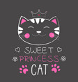 cute cat princess vector image