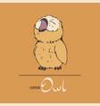 cute owl vector image vector image