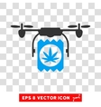 Drone Drugs Delivery Eps Icon vector image vector image