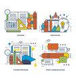 education communications video innovation vector image vector image