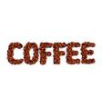 english word coffee vector image