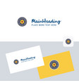 eye ball logotype with business card template vector image vector image