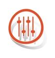 Faders sign sticker orange vector image vector image