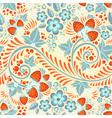 Festive khokhloma seamless pattern vector image