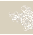 Flower ornament background vector image vector image