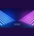 futuristic neon lights stage floor background vector image