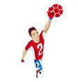 goalkeeper catches ball football vector image