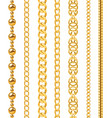 golden chain seamless luxury chains different vector image