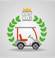 golf club car sport vehicle badge vector image
