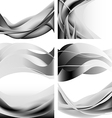 Gray abstract waves flames isolated set vector image