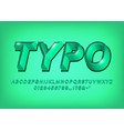 green 3d alphabet typeface text effect title vector image vector image