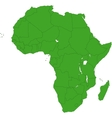 Green Africa map vector image vector image