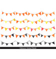 halloween garland watercolor for autumn party vector image